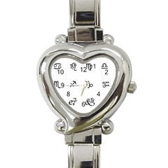 Set Of Black Web Dings On White Background Abstract Symbols Heart Italian Charm Watch