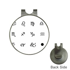 Set Of Black Web Dings On White Background Abstract Symbols Hat Clips with Golf Markers