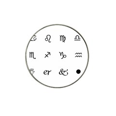 Set Of Black Web Dings On White Background Abstract Symbols Hat Clip Ball Marker (4 Pack)