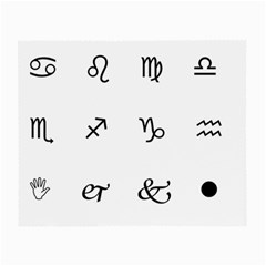 Set Of Black Web Dings On White Background Abstract Symbols Small Glasses Cloth