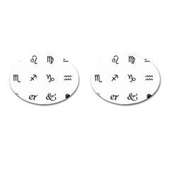 Set Of Black Web Dings On White Background Abstract Symbols Cufflinks (oval)