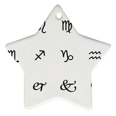 Set Of Black Web Dings On White Background Abstract Symbols Star Ornament (Two Sides)
