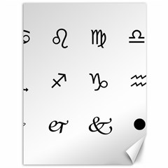 Set Of Black Web Dings On White Background Abstract Symbols Canvas 36  x 48