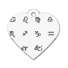 Set Of Black Web Dings On White Background Abstract Symbols Dog Tag Heart (two Sides)