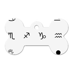 Set Of Black Web Dings On White Background Abstract Symbols Dog Tag Bone (two Sides)