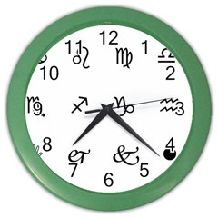 Set Of Black Web Dings On White Background Abstract Symbols Color Wall Clocks