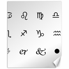 Set Of Black Web Dings On White Background Abstract Symbols Canvas 11  X 14