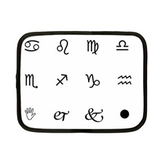 Set Of Black Web Dings On White Background Abstract Symbols Netbook Case (small)