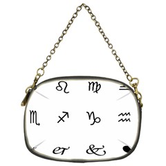 Set Of Black Web Dings On White Background Abstract Symbols Chain Purses (one Side)