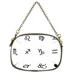 Set Of Black Web Dings On White Background Abstract Symbols Chain Purses (two Sides)