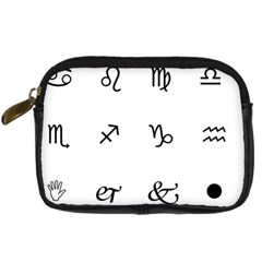 Set Of Black Web Dings On White Background Abstract Symbols Digital Camera Cases