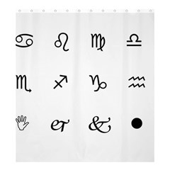 Set Of Black Web Dings On White Background Abstract Symbols Shower Curtain 66  X 72  (large)