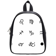 Set Of Black Web Dings On White Background Abstract Symbols School Bags (Small)