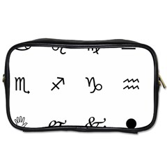 Set Of Black Web Dings On White Background Abstract Symbols Toiletries Bags