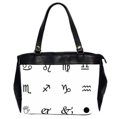 Set Of Black Web Dings On White Background Abstract Symbols Office Handbags (2 Sides)