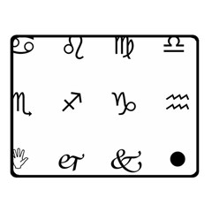 Set Of Black Web Dings On White Background Abstract Symbols Fleece Blanket (small)