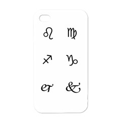 Set Of Black Web Dings On White Background Abstract Symbols Apple Iphone 4 Case (white)