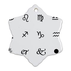 Set Of Black Web Dings On White Background Abstract Symbols Snowflake Ornament (two Sides)