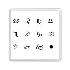 Set Of Black Web Dings On White Background Abstract Symbols Memory Card Reader (square)