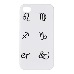 Set Of Black Web Dings On White Background Abstract Symbols Apple Iphone 4/4s Hardshell Case