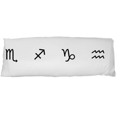 Set Of Black Web Dings On White Background Abstract Symbols Body Pillow Case Dakimakura (two Sides)