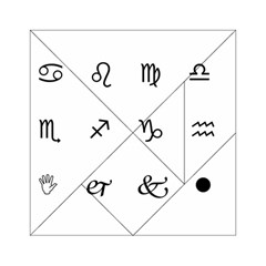 Set Of Black Web Dings On White Background Abstract Symbols Acrylic Tangram Puzzle (6  X 6 )