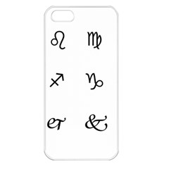 Set Of Black Web Dings On White Background Abstract Symbols Apple Iphone 5 Seamless Case (white)