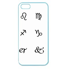 Set Of Black Web Dings On White Background Abstract Symbols Apple Seamless Iphone 5 Case (color)