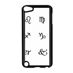 Set Of Black Web Dings On White Background Abstract Symbols Apple Ipod Touch 5 Case (black)