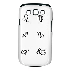 Set Of Black Web Dings On White Background Abstract Symbols Samsung Galaxy S Iii Classic Hardshell Case (pc+silicone)