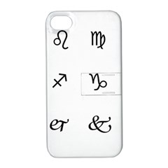 Set Of Black Web Dings On White Background Abstract Symbols Apple Iphone 4/4s Hardshell Case With Stand