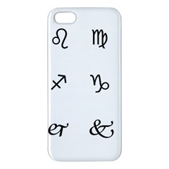 Set Of Black Web Dings On White Background Abstract Symbols Apple iPhone 5 Premium Hardshell Case