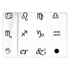 Set Of Black Web Dings On White Background Abstract Symbols Samsung Galaxy Tab 10 1  P7500 Flip Case