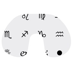 Set Of Black Web Dings On White Background Abstract Symbols Travel Neck Pillows
