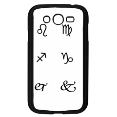 Set Of Black Web Dings On White Background Abstract Symbols Samsung Galaxy Grand Duos I9082 Case (black)