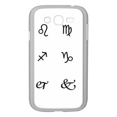 Set Of Black Web Dings On White Background Abstract Symbols Samsung Galaxy Grand Duos I9082 Case (white)