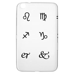 Set Of Black Web Dings On White Background Abstract Symbols Samsung Galaxy Tab 3 (8 ) T3100 Hardshell Case