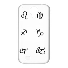 Set Of Black Web Dings On White Background Abstract Symbols Samsung Galaxy S4 Classic Hardshell Case (pc+silicone)