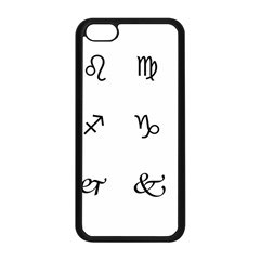 Set Of Black Web Dings On White Background Abstract Symbols Apple Iphone 5c Seamless Case (black)