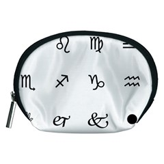 Set Of Black Web Dings On White Background Abstract Symbols Accessory Pouches (medium)