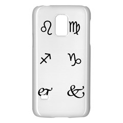 Set Of Black Web Dings On White Background Abstract Symbols Galaxy S5 Mini