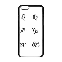 Set Of Black Web Dings On White Background Abstract Symbols Apple Iphone 6/6s Black Enamel Case