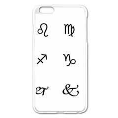Set Of Black Web Dings On White Background Abstract Symbols Apple Iphone 6 Plus/6s Plus Enamel White Case