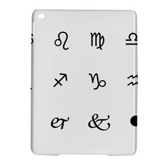 Set Of Black Web Dings On White Background Abstract Symbols Ipad Air 2 Hardshell Cases