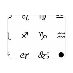Set Of Black Web Dings On White Background Abstract Symbols Double Sided Flano Blanket (mini)