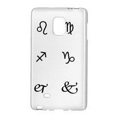 Set Of Black Web Dings On White Background Abstract Symbols Galaxy Note Edge