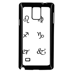 Set Of Black Web Dings On White Background Abstract Symbols Samsung Galaxy Note 4 Case (Black)
