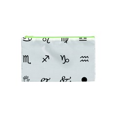 Set Of Black Web Dings On White Background Abstract Symbols Cosmetic Bag (xs)