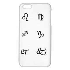 Set Of Black Web Dings On White Background Abstract Symbols Iphone 6 Plus/6s Plus Tpu Case