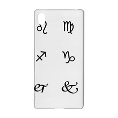 Set Of Black Web Dings On White Background Abstract Symbols Sony Xperia Z3+